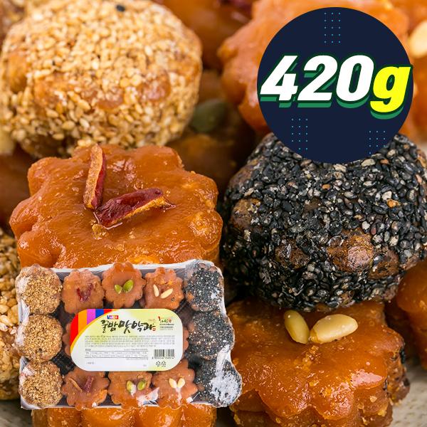 (대용량간식) 꿀밤맛약과 420g