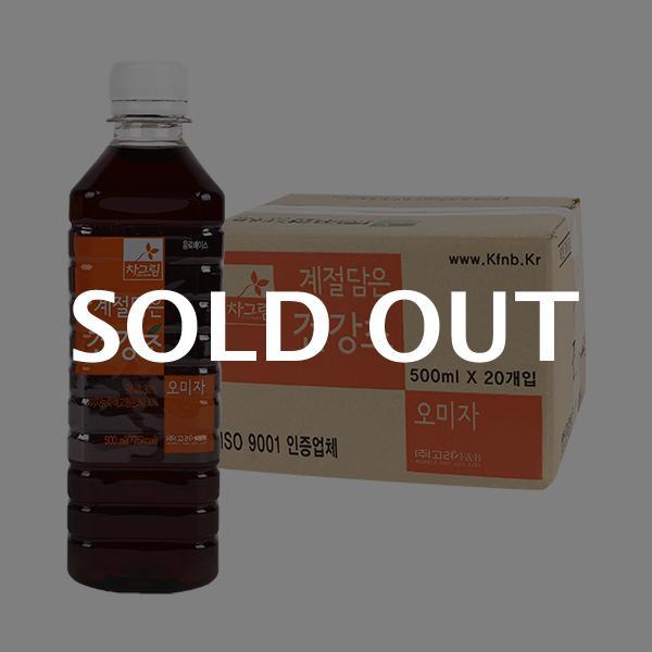 차그림 오미자감식초 500ml 20입이식사
