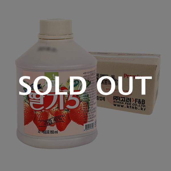 차그림 딸기주스원액 850ml 12입이식사