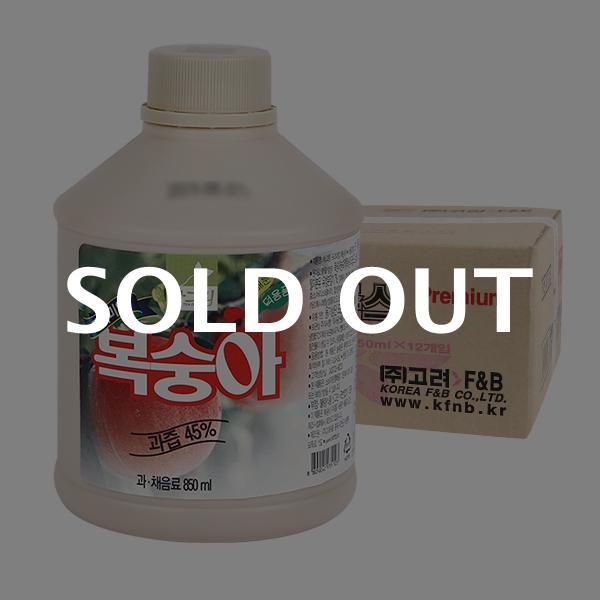 차그림 복숭아주스원액 850ml 12입이식사