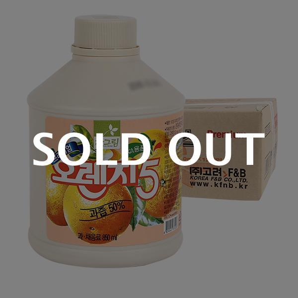 차그림 오렌지주스원액 850ml 12입이식사