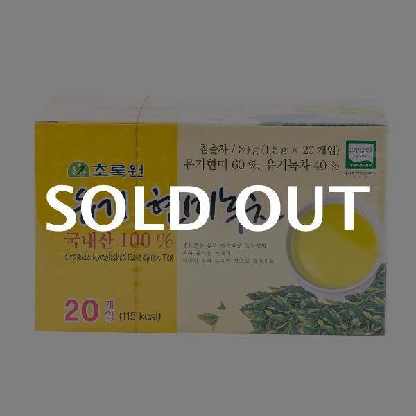 초록원 유기농현미녹차 20T 30g이식사