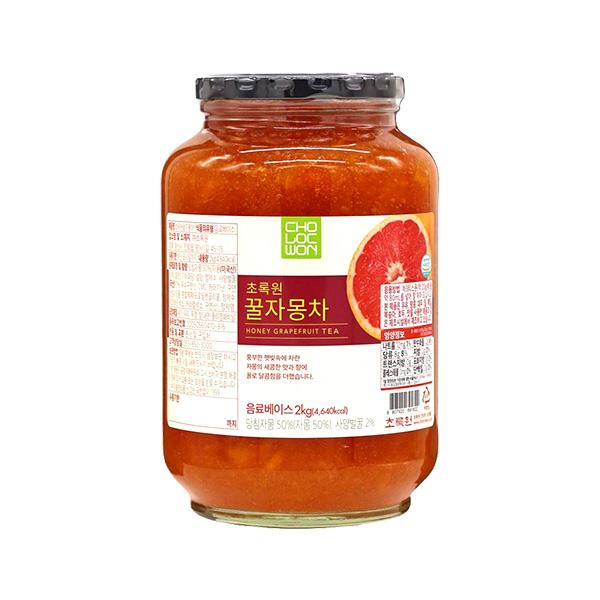 초록원 꿀레드자몽차 2kg이식사