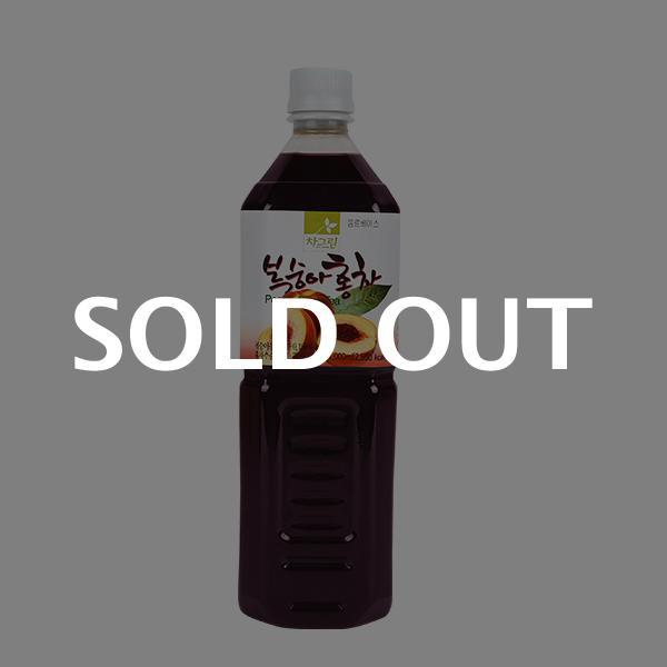 차그림 복숭아홍차원액 1000ml이식사
