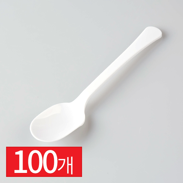 빙수용 스푼 화이트 100입이식사