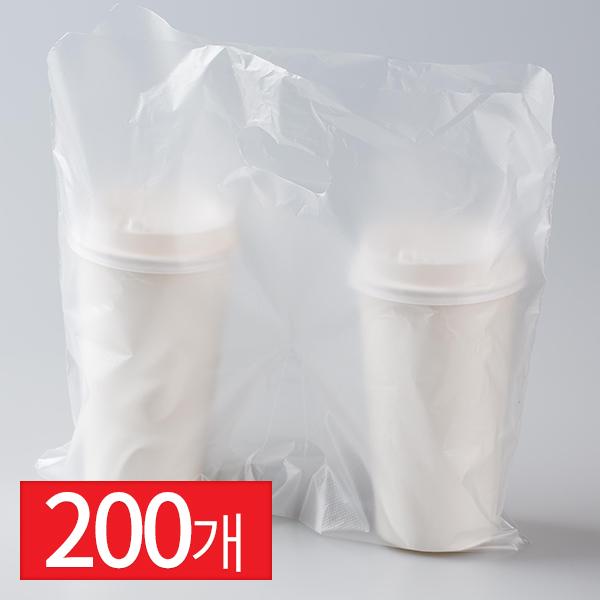컵캐리어 비닐 일체형 200입이식사