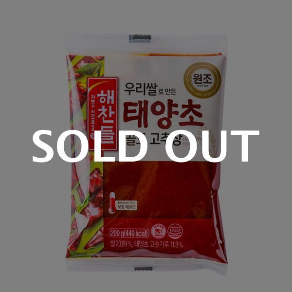 해찬들 우리쌀 태양초 고추장(봉) 200g이식사