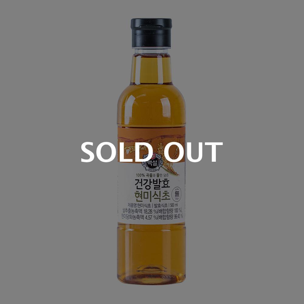 CJ 자연발효 현미식초 500ml이식사