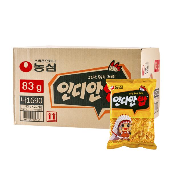 농심 인디안밥 83g 20입이식사