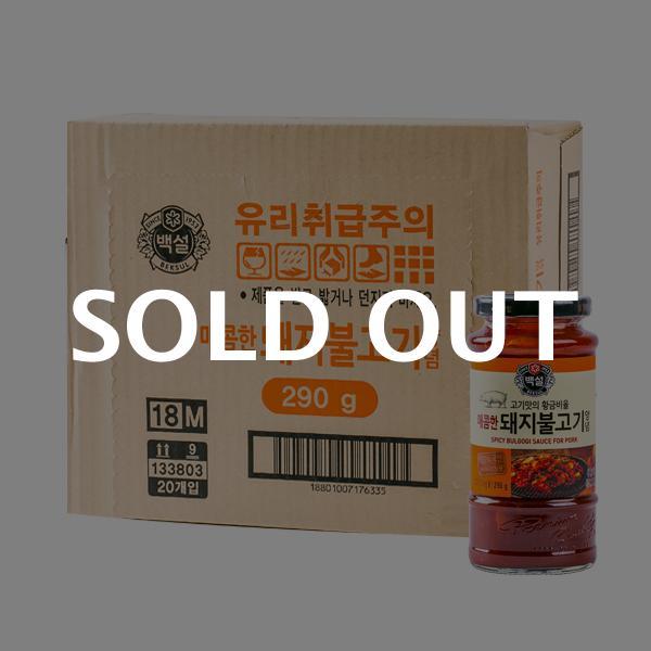 CJ 매콤한 돼지불고기양념 290g 20입이식사