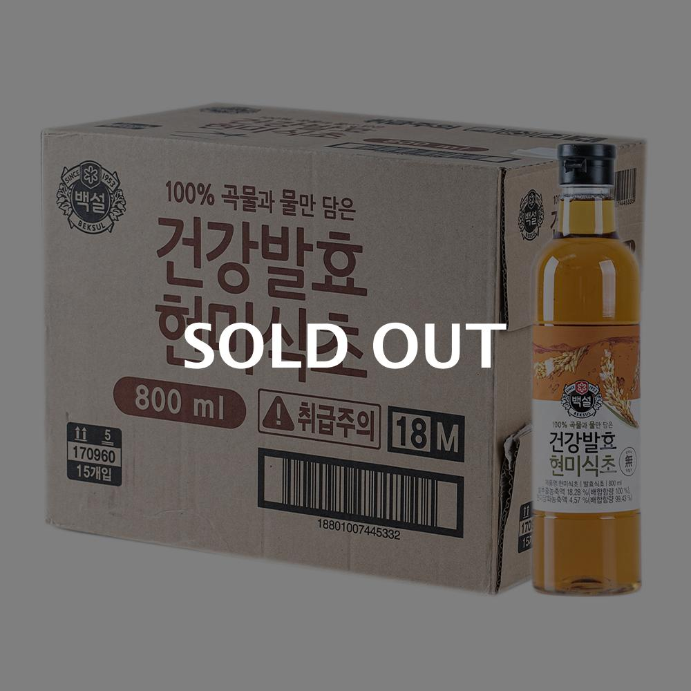 CJ 자연발효 현미식초 800ml 15입이식사