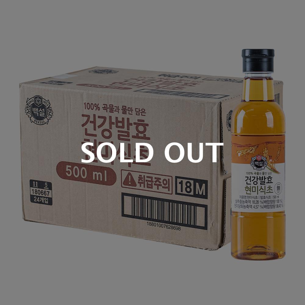 CJ 자연발효 현미식초 500ml 24입이식사