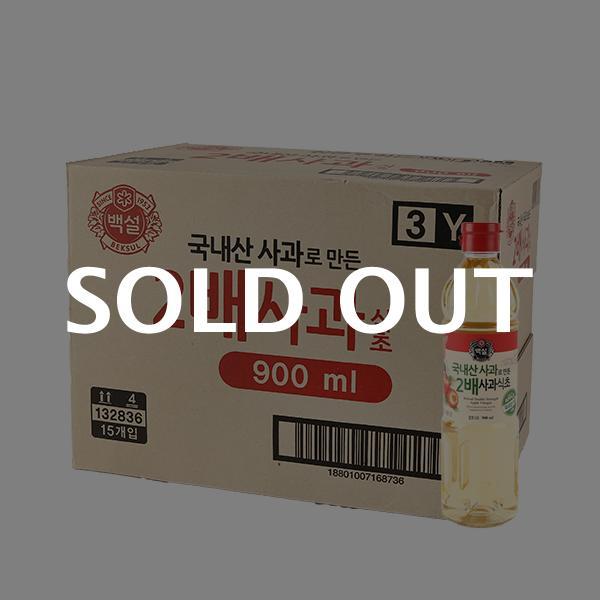 CJ 국내산 2배사과식초 900ml 15입이식사