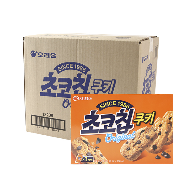 오리온 초코칩쿠키 192g 14입이식사