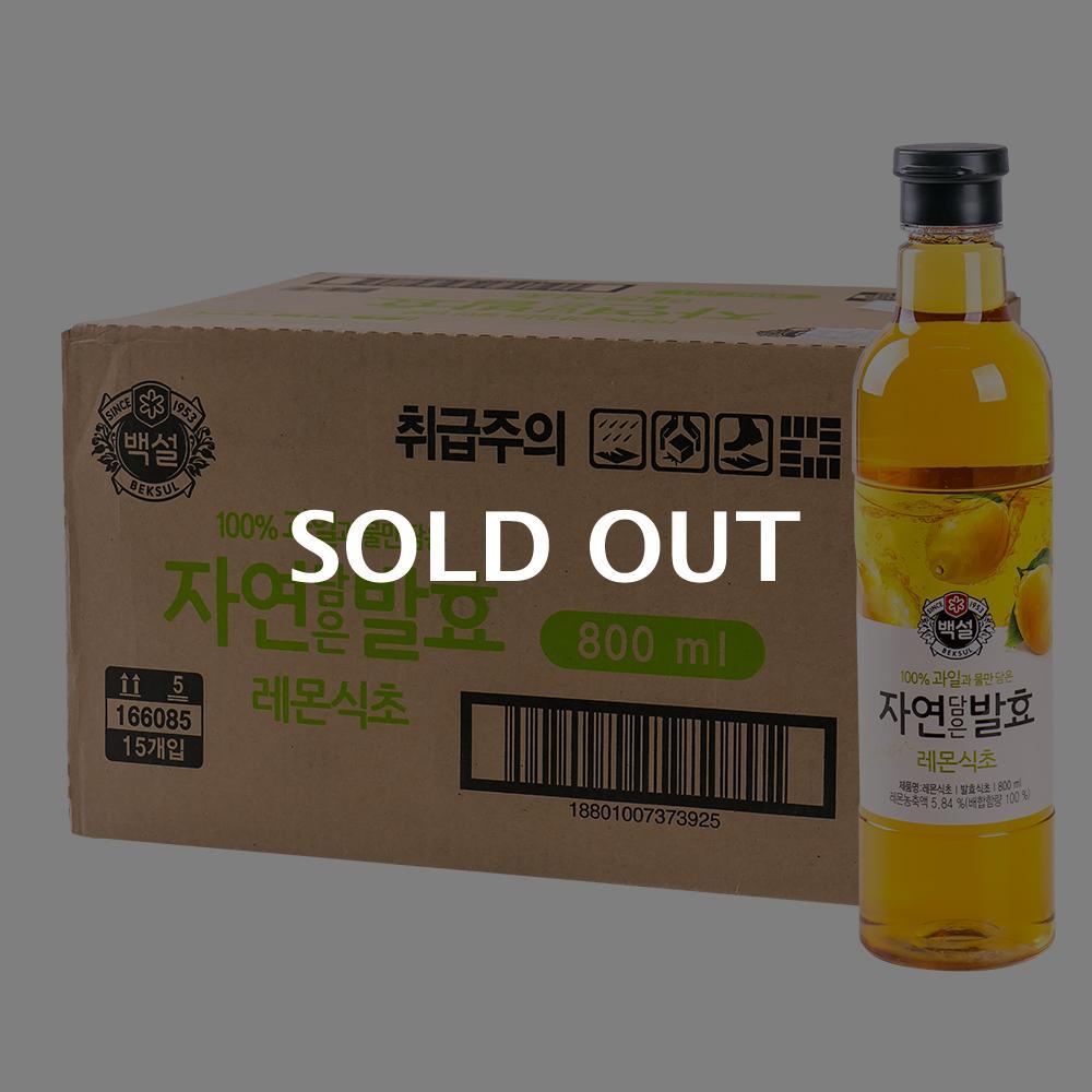 CJ 자연발효 레몬식초 800ml 15입이식사