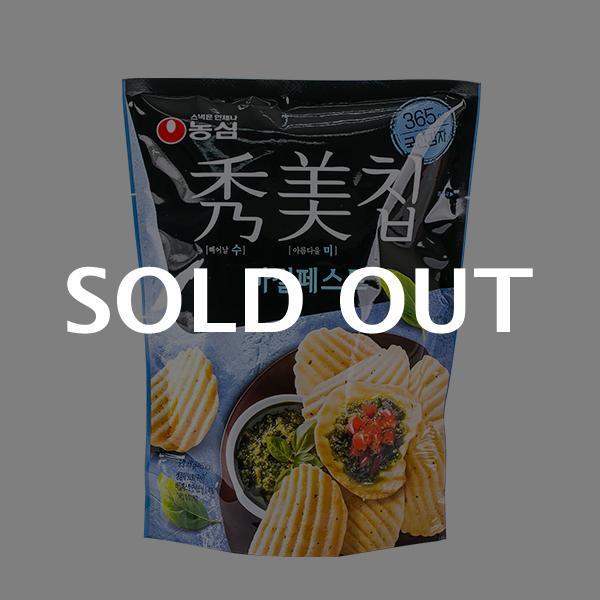 농심 수미칩 바질페스토 100g이식사