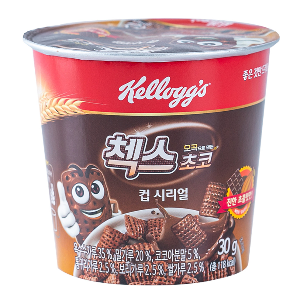 켈로그 첵스초코(컵) 씨리얼 30g이식사
