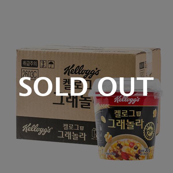 켈로그 그래놀라(컵) 씨리얼 30g 12입 (박스)이식사