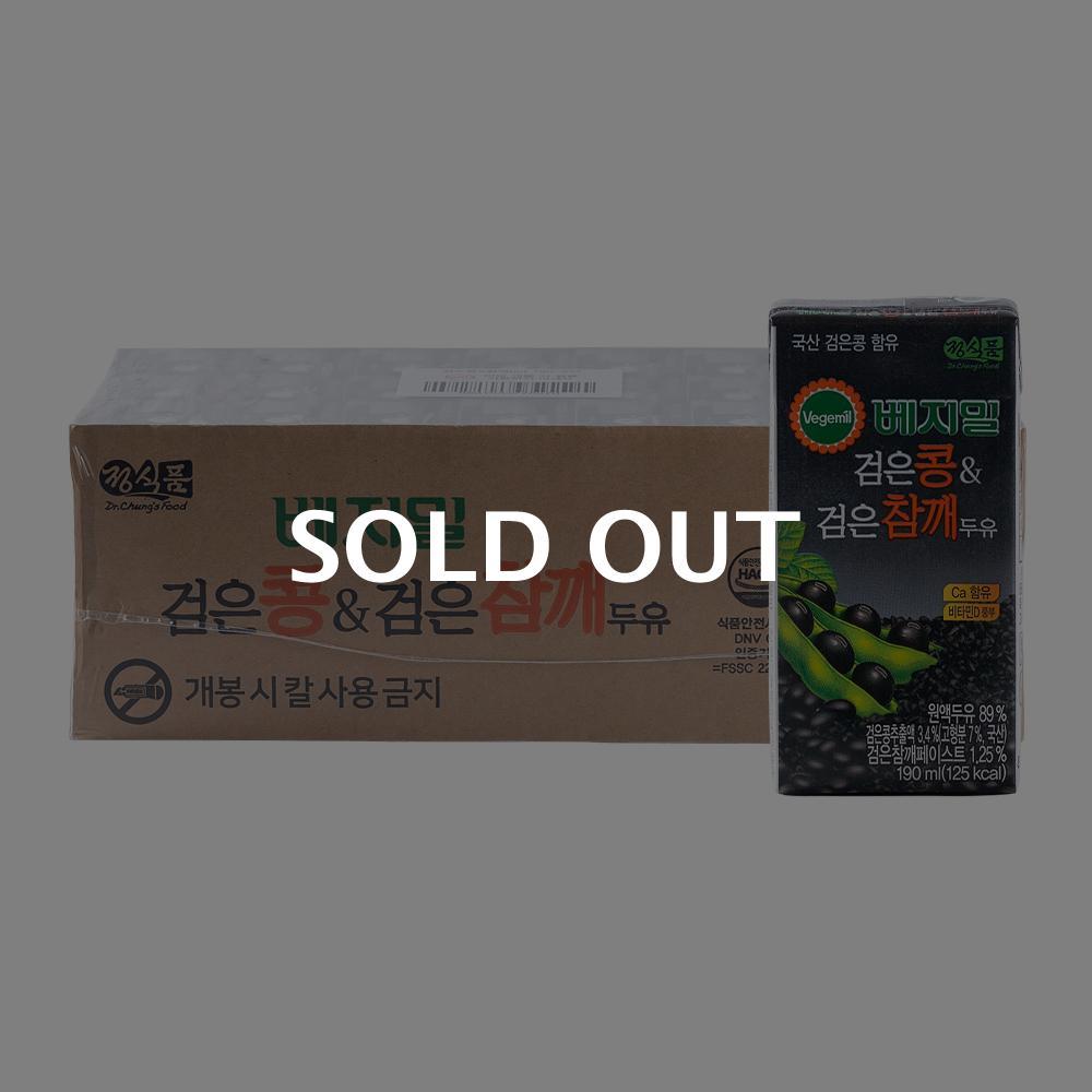 베지밀 검은콩&검은참깨 두유 190ml 24입이식사