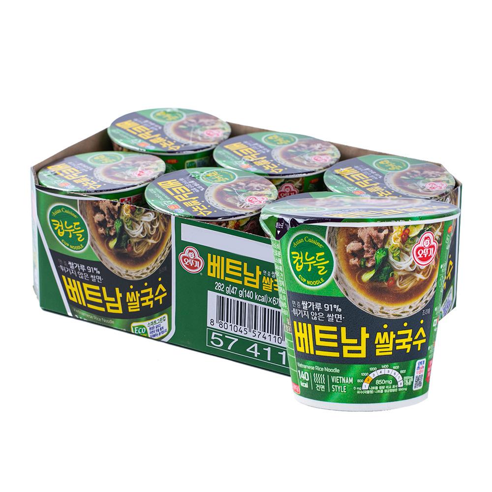 오뚜기 컵누들 베트남쌀국수 소컵 47g 6입이식사