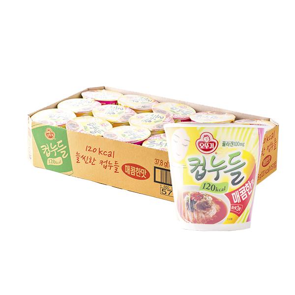 오뚜기 컵누들 매콤한맛 소컵 37.8g 15입이식사