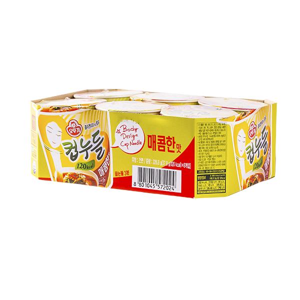 오뚜기 컵누들 매콤한맛 소컵 37.8g 6입이식사