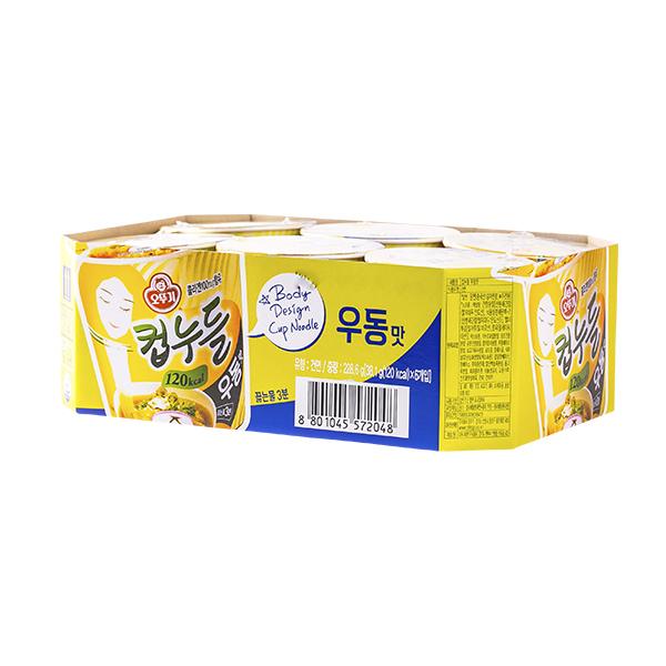 오뚜기 컵누들 우동맛 소컵 38.1g 6입이식사
