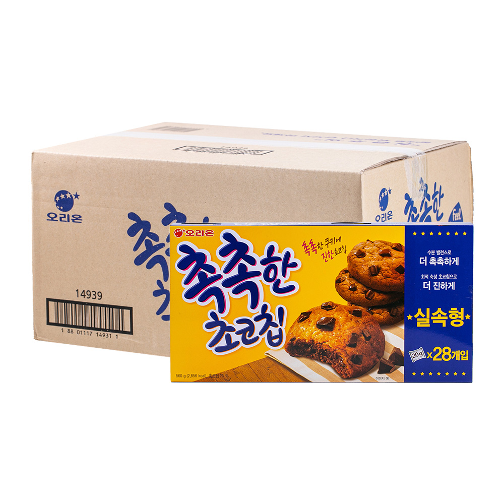 오리온 촉촉한초코칩 240g 14입이식사