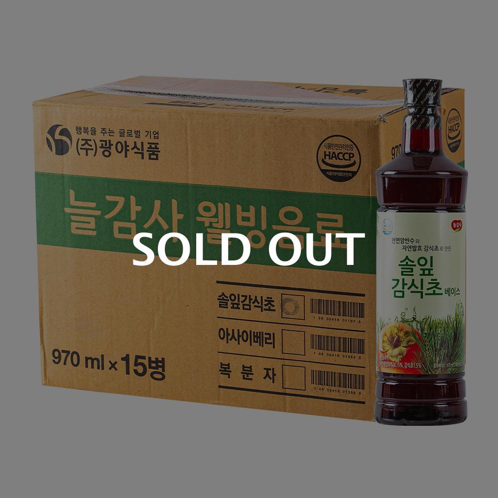 광야 솔잎감식초 1050ml 15입이식사