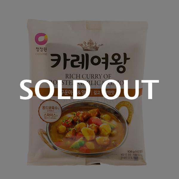 청정원 카레여왕 구운마늘&양파 108g이식사