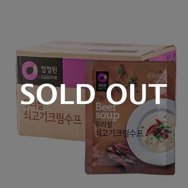 청정원 우리쌀 쇠고기크림수프 60g 30입이식사