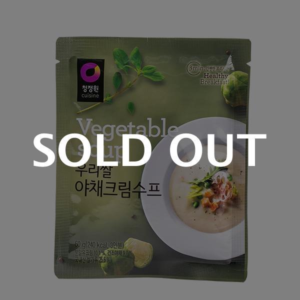 청정원 우리쌀 야채크림수프 60g이식사