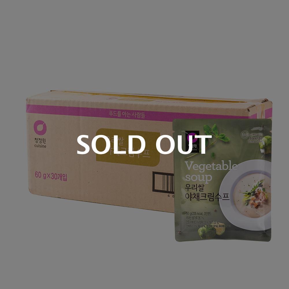청정원 우리쌀 야채크림수프 60g 30입이식사