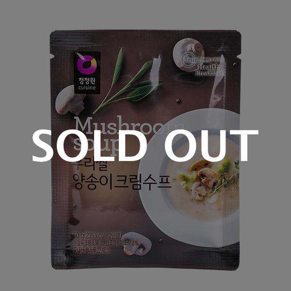 청정원 우리쌀 양송이크림수프 60g이식사