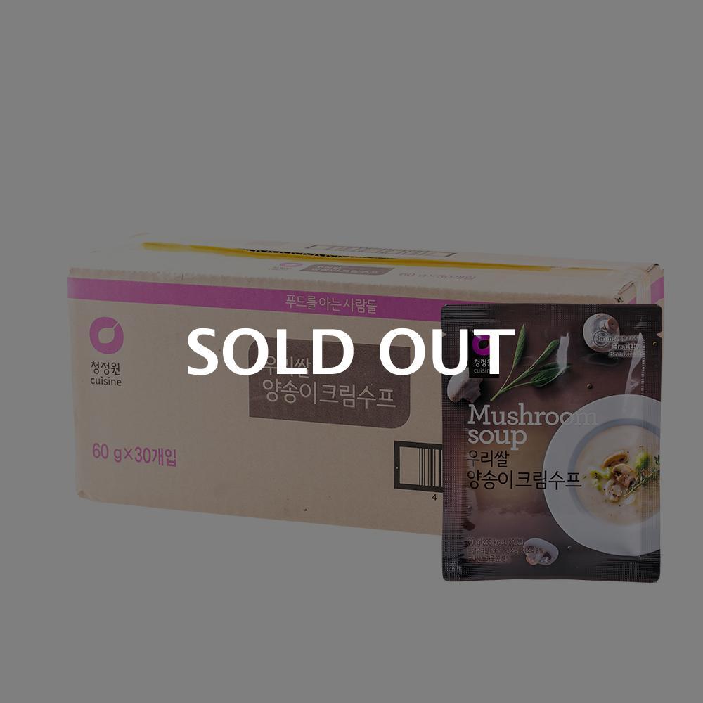 청정원 우리쌀 양송이크림수프 60g 30입이식사