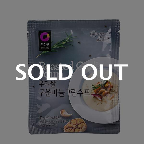 청정원 우리쌀 구운마늘크림수프 60g이식사