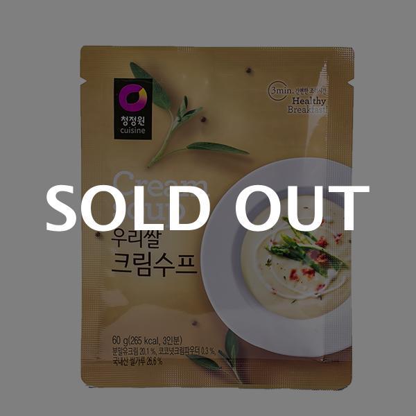 청정원 우리쌀 크림수프 60g이식사