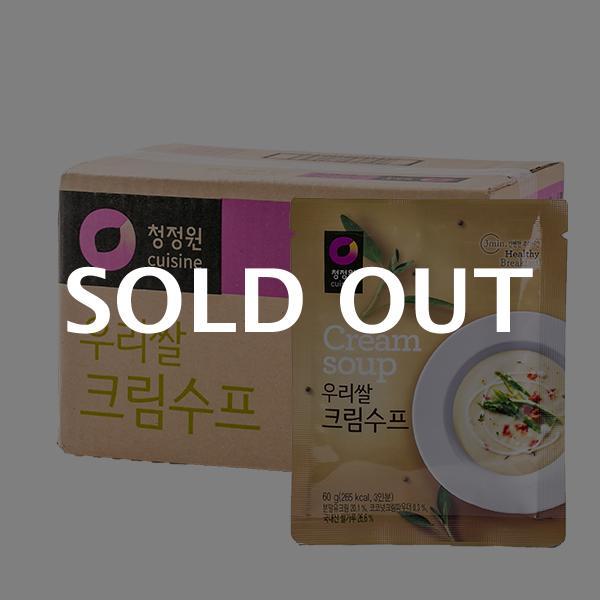 청정원 우리쌀 크림수프 60g 30입이식사
