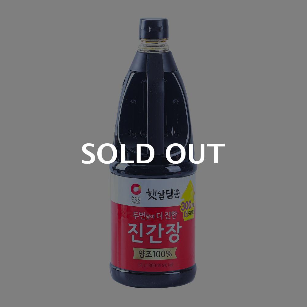 청정원 양조진간장 진한맛 1.4L+300ml이식사