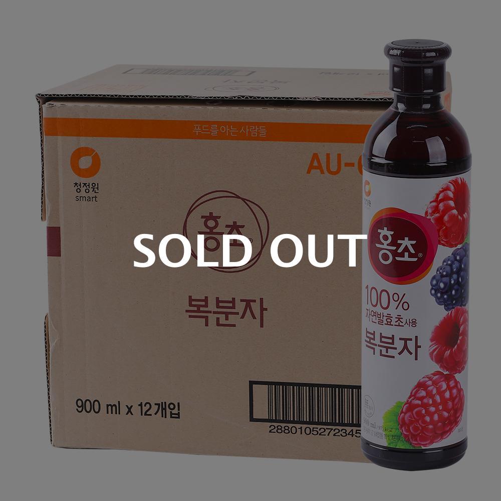 청정원 홍초 바이탈플러스 복분자 900ml 12입이식사