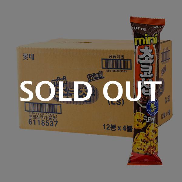 롯데 미니초코칩쿠키 69g 48입이식사