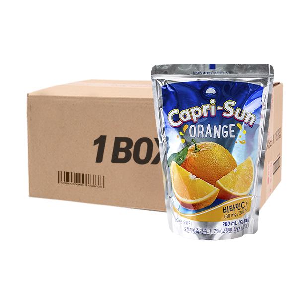 농심 카프리썬 오렌지 200ml 20입이식사