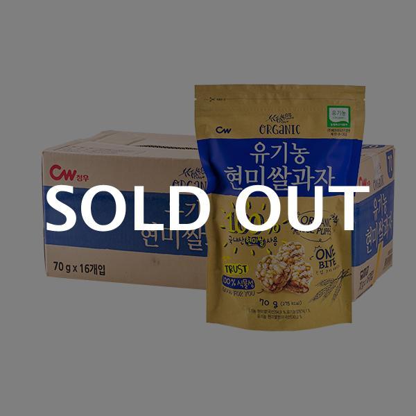 청우 유기농현미쌀과자 70g 16입이식사