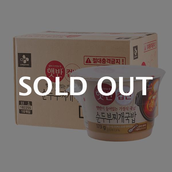 CJ 컵반 순두부찌개국밥 173g 18입이식사