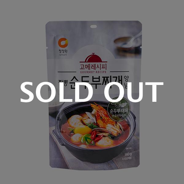 청정원 짬뽕순두부찌개양념 140g이식사