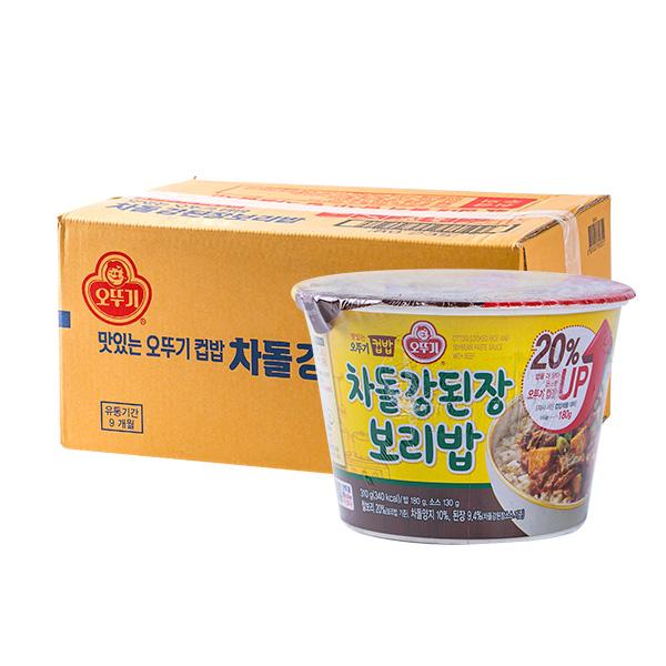 오뚜기 컵밥 차돌 강된장보리밥 315g 12입이식사
