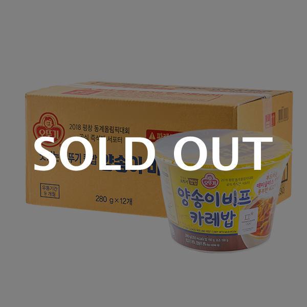 오뚜기 컵밥 양송이 비프카레밥 280g 12입이식사