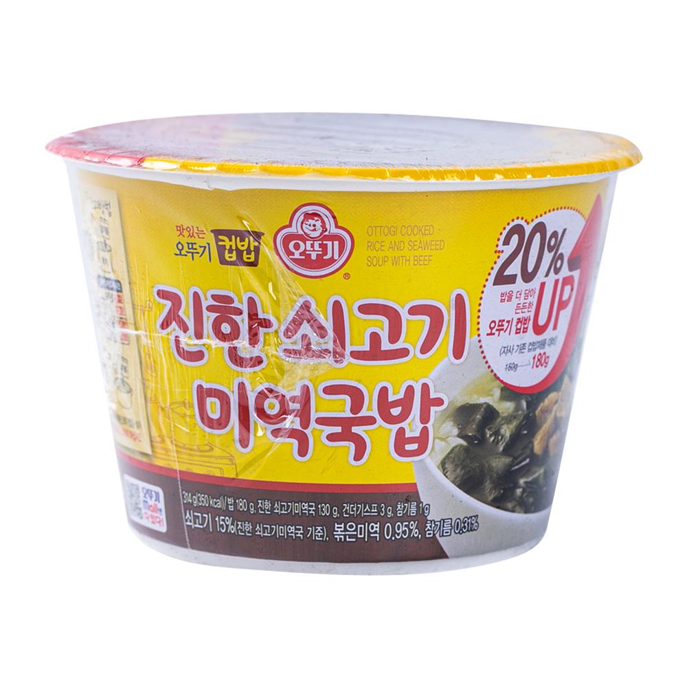 오뚜기 컵밥 쇠고기미역국밥 172g이식사