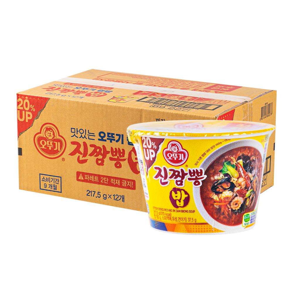 오뚜기 컵밥 진짬뽕밥 187.5g 12입이식사