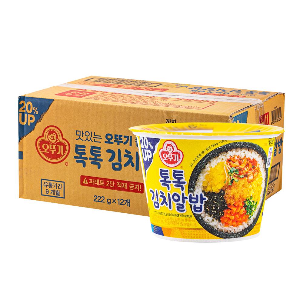 오뚜기 컵밥 톡톡김치알밥 192g 12입이식사